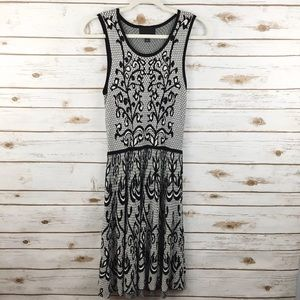 Cynthia Rowley Lace Print Midi Dress A Line